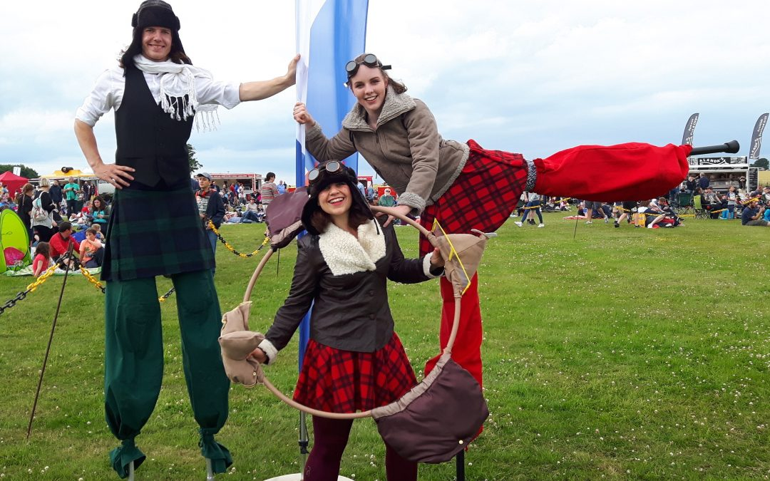 Aviatricks Circus Performers perform at Scotland's National Airshow at East Fortune!